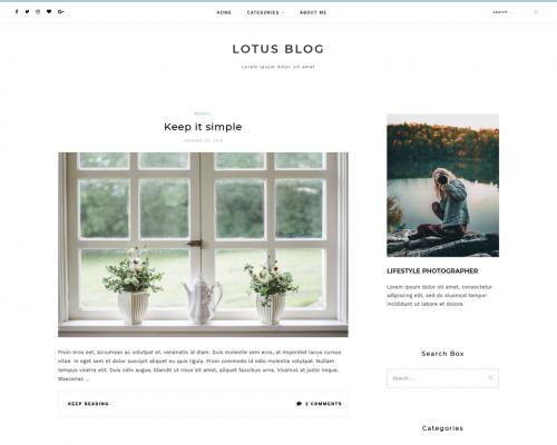 دانلود رایگان قالب وردپرس Lotuslite