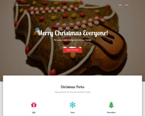 دانلود رایگان قالب وردپرس Christmas Hestia