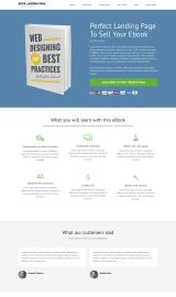 پیش نمایش موبایل قالب وردپرس Book Landing Page