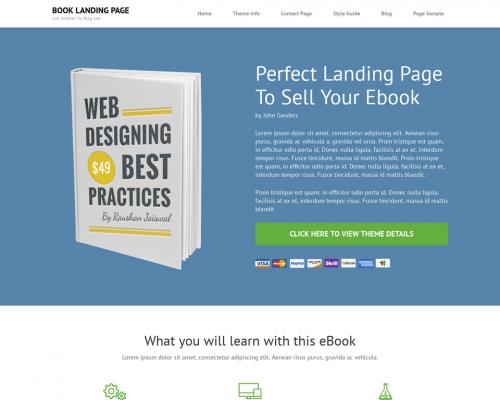 دانلود رایگان قالب وردپرس Book Landing Page