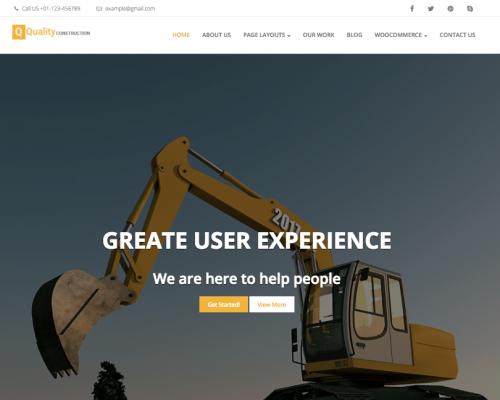 دانلود رایگان قالب وردپرس Quality Construction