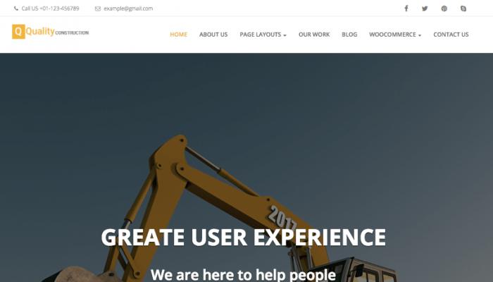 پیش نمایش دسکتاپ قالب وردپرس Quality Construction