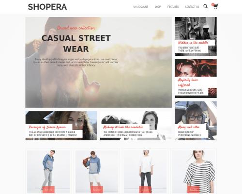 دانلود رایگان قالب وردپرس Shopera