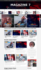 پیش نمایش موبایل قالب وردپرس Magazine 7