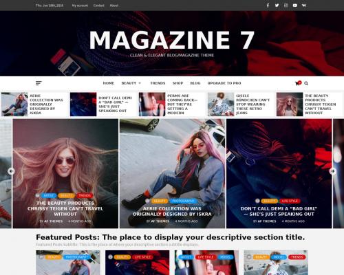 دانلود رایگان قالب وردپرس Magazine 7