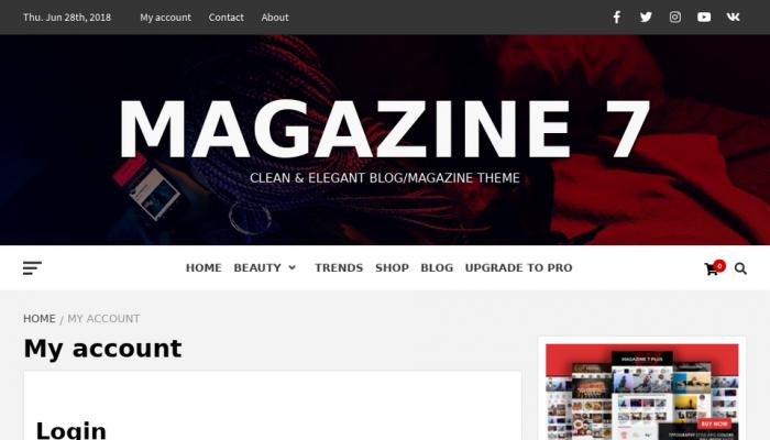 پیش نمایش دسکتاپ قالب وردپرس Magazine 7