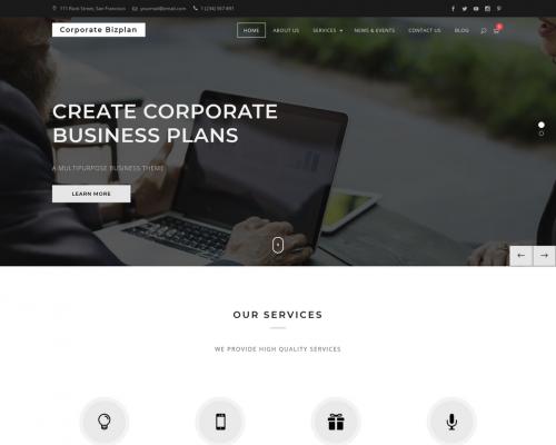 دانلود رایگان قالب وردپرس Corporate Bizplan