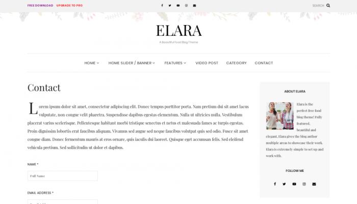 پیش نمایش دسکتاپ قالب وردپرس Elara
