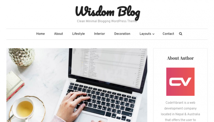 پیش نمایش دسکتاپ قالب وردپرس Wisdom Blog